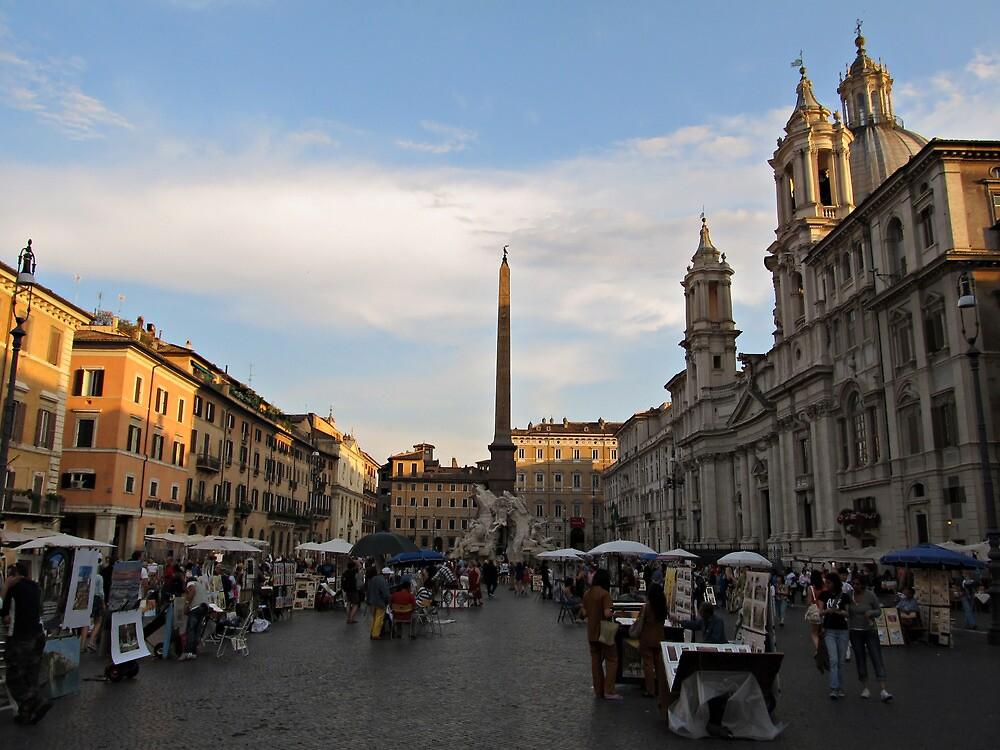 Piazza Navona at Sunset by kirilart
