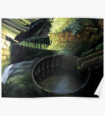 Old Watermill Poster