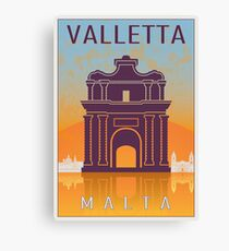 Valletta Vintage poster Canvas Print