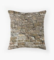 Ancient Stone Wall Background Throw Pillow