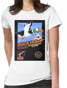Duck Hunt Nes Art Womens Fitted T-Shirt