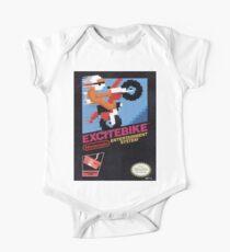 Excite Bike Nes Art Short Sleeve Baby One-Piece