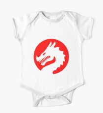 Red Luck Dragon Design, Luck Dragon Gifts Logo Design One Piece - Short Sleeve