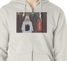 Fille Blanche Zipped Hoodie