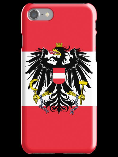 Smartphone Case - Flag of Austria (State) vertical by Mark Podger
