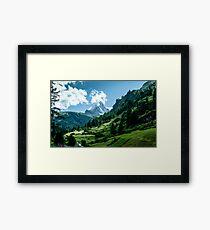 zermatt (002), (matterhorn) Framed Print