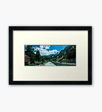 zermatt (006), (matterhorn)  Framed Print