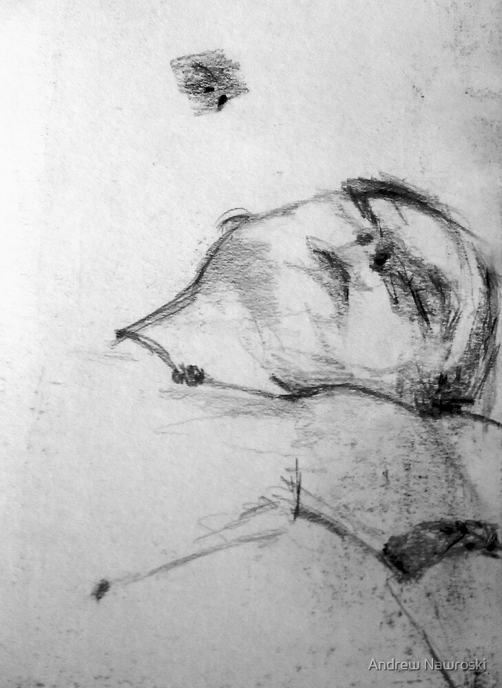 Life Drawing Study 11. by Andrew Nawroski
