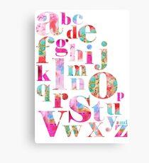 Pink Alphabet Canvas Print