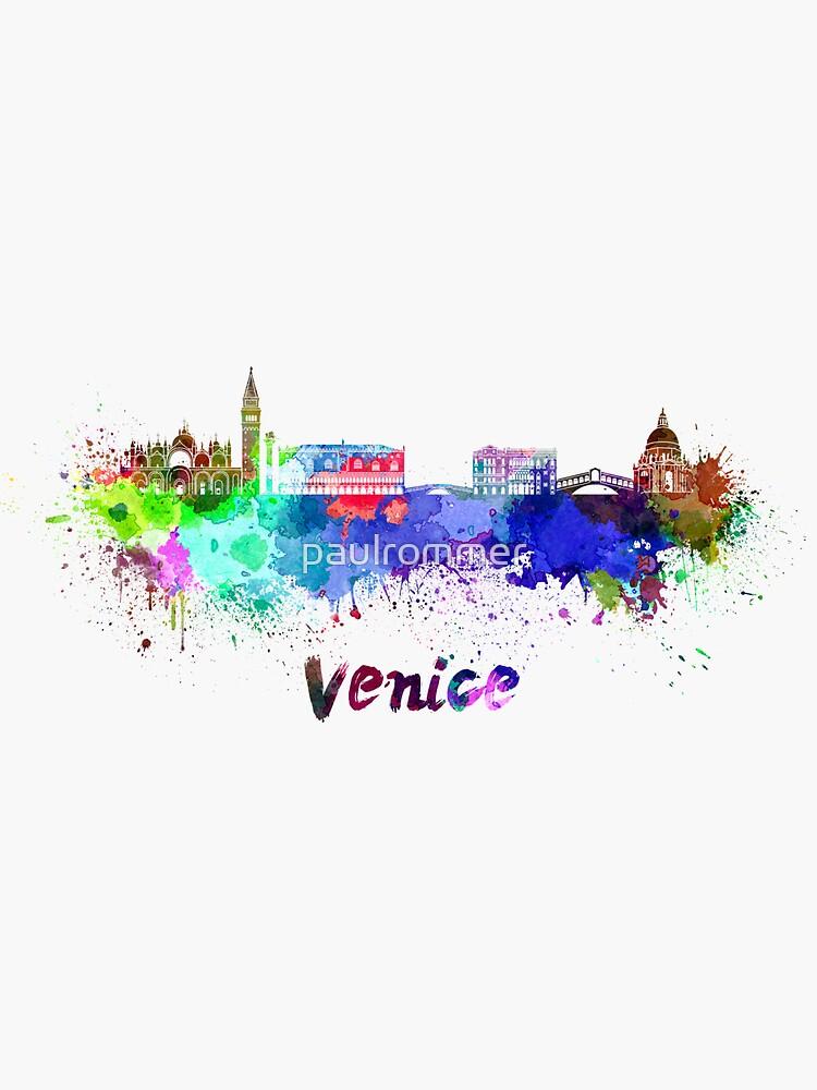 Venedig Skyline im Aquarell von paulrommer
