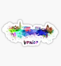 Venice skyline in watercolor Sticker