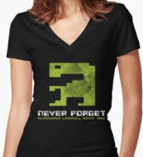1983 - Never Forget Women's Fitted V-Neck T-Shirt