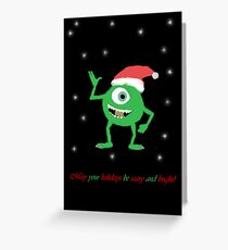 Monsters Inc. Christmas! Greeting Card