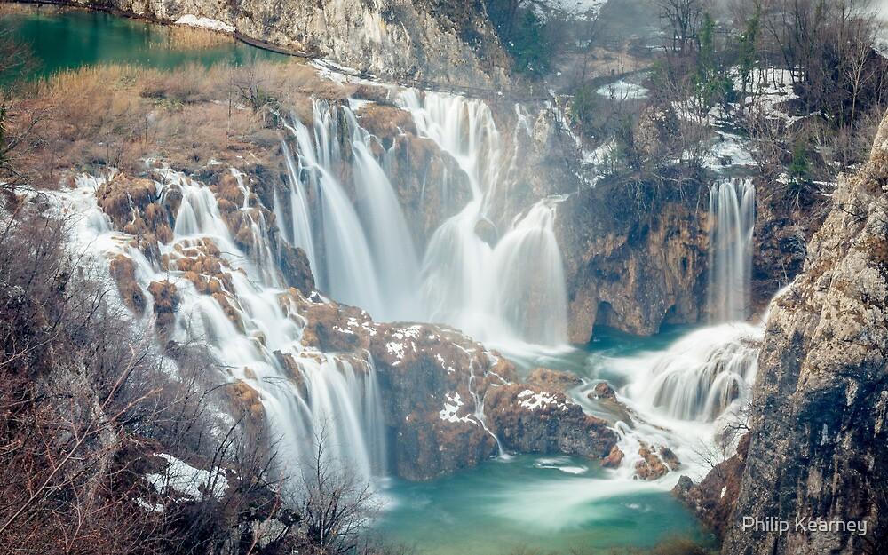 Waterfalls in Plitvice Lakes National Park by Philip Kearney