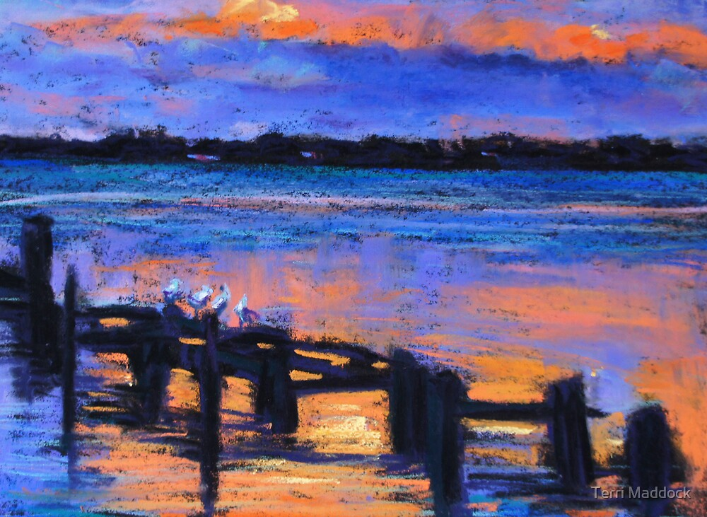 Vivid sunset by Terri Maddock