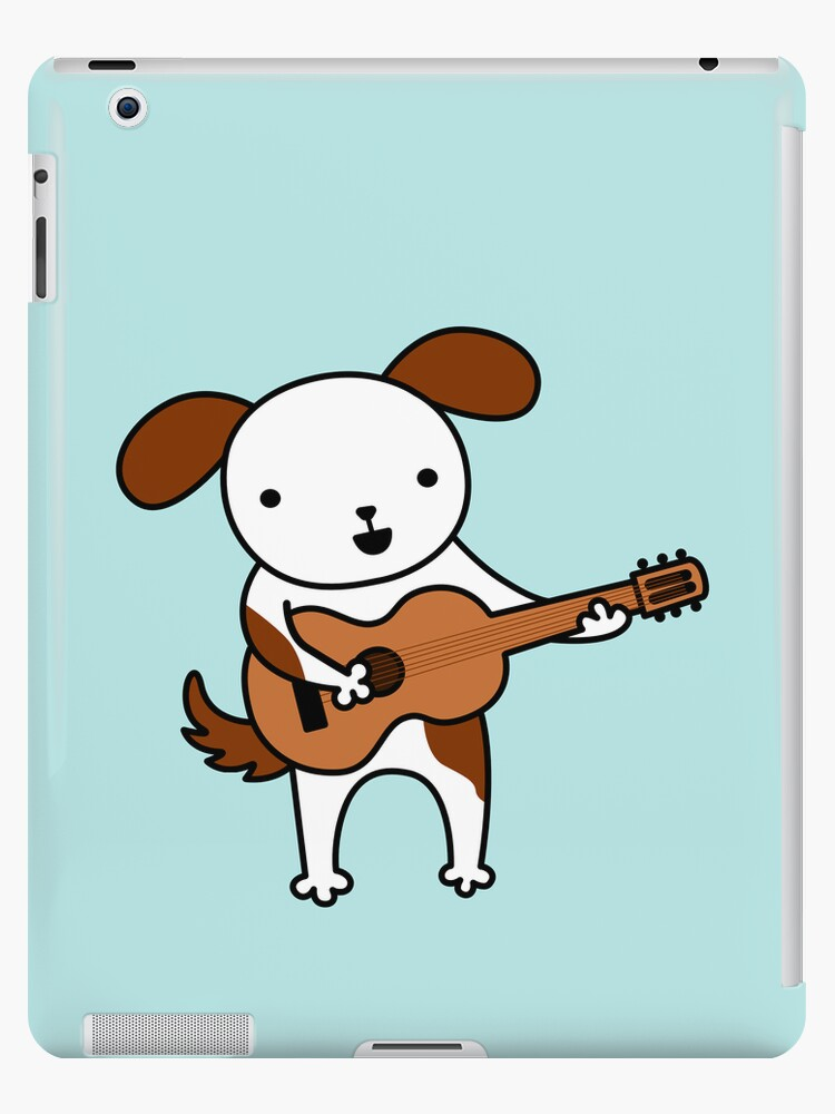 Puppy Playing Acoustic Guitar - Practice Makes Perfect  by Zoe Lathey