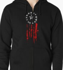 Old World Flag Zipped Hoodie