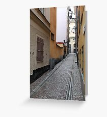 Stockholm old town Greeting Card