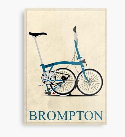 Brompton Folding Bike Metal Print
