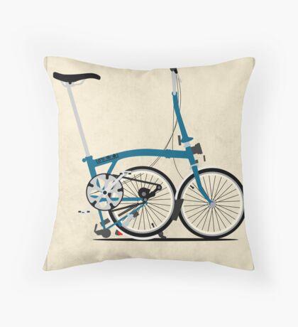 Brompton Folding Bike Throw Pillow