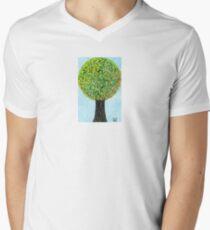 Blossom Tree Mens V-Neck T-Shirt