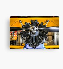 Radial Engine on a PT17 Stearman bi-plane Canvas Print