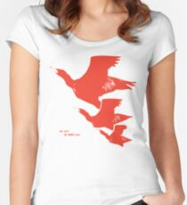 Persona 4 Yosuke Hanamura shirt (red birds) Women's Fitted Scoop T-Shirt
