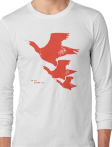 Persona 4 Yosuke Hanamura shirt (red birds) Long Sleeve T-Shirt