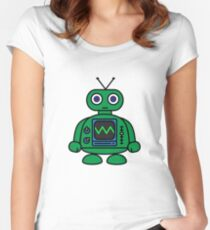 Mini Robot Women's Fitted Scoop T-Shirt