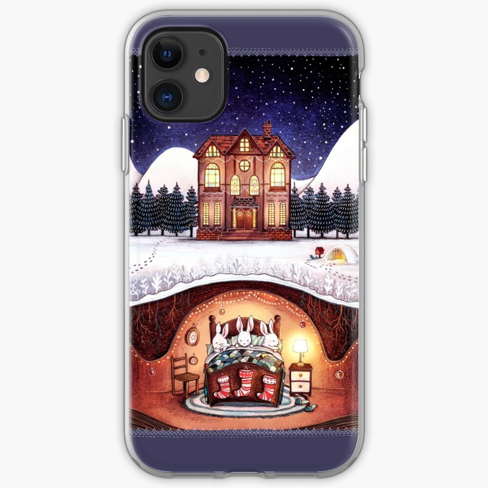 Christmas in the Burrow iPhone Soft Case