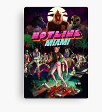 Hotline Miami Cover Canvas Print