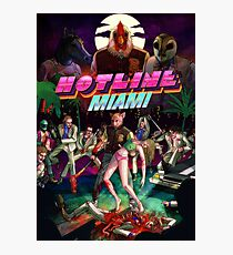 Hotline Miami Cover Photographic Print