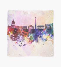 Washington DC skyline in watercolor background  Scarf