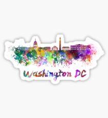 Washington DC skyline in watercolor Sticker
