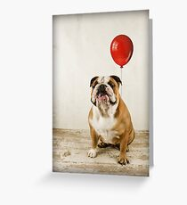 Bulldog Birthday wish Greeting Card