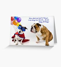 Birthday among siblings Greeting Card
