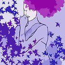 Purple and blue hearts 1 by Gunes Yilmaz
