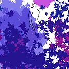 Purple and blue hearts 4 by Gunes Yilmaz