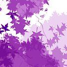 Purple and blue hearts 11 by Gunes Yilmaz