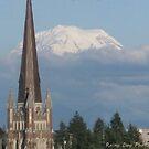 Mt. Rainier from Tacoma by Rainydayphotos