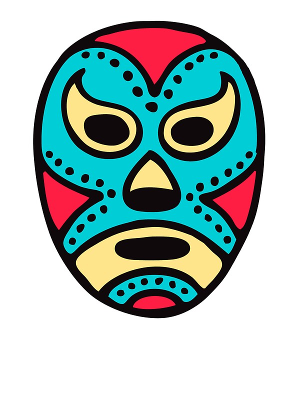 quotmexican wrestling mask lucha librequot stickers by