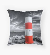 Port or Starboard Colourised Throw Pillow