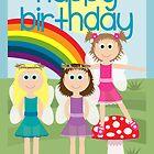 Happy Birthday - Fairies by Emma Holmes