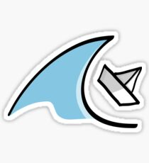 Sailboat in the Waves Sticker