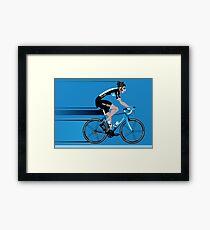 Bradley Wiggins Team Sky Framed Print