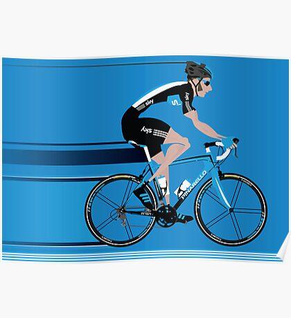 Bradley Wiggins Team Sky Poster
