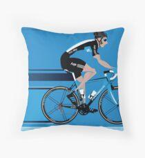 Bradley Wiggins Team Sky Throw Pillow
