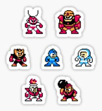 Megaman surrounded 1 Sticker