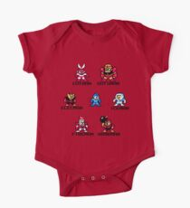 Megaman surrounded 1 with black text One Piece - Short Sleeve