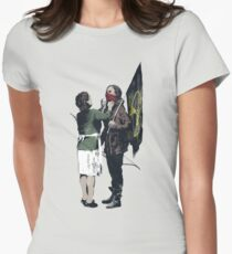 Banksy Games Women's Fitted T-Shirt